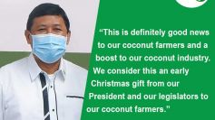 House approval of coco levy trust fund bill, a Christmas gift to our coconut farmers – PCA